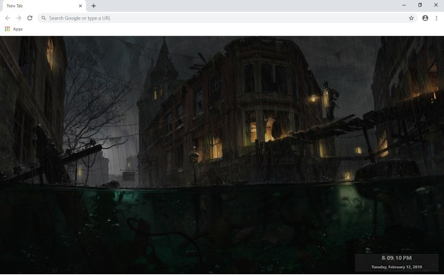The Sinking City New Tab Theme