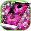Teclado rosado enciende icon