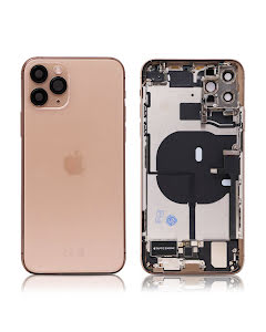 iPhone 11 Pro Max Housing with small parts Original Pulled Gold