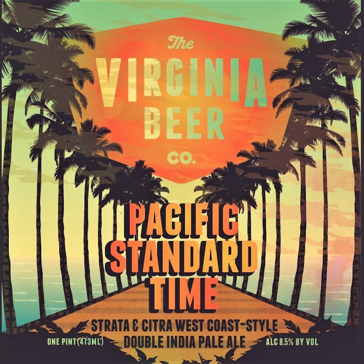 Logo of Virginia Beer Co. Pacific Standard Time