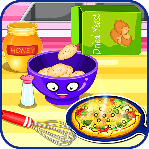 Cooking pizza for dinner (game)