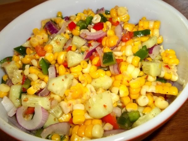 In another bowl, add all remaining ingredients and whisk well.  Pour over vegetable mixture and...