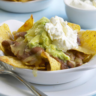 Avocado and Bean Nachos.
