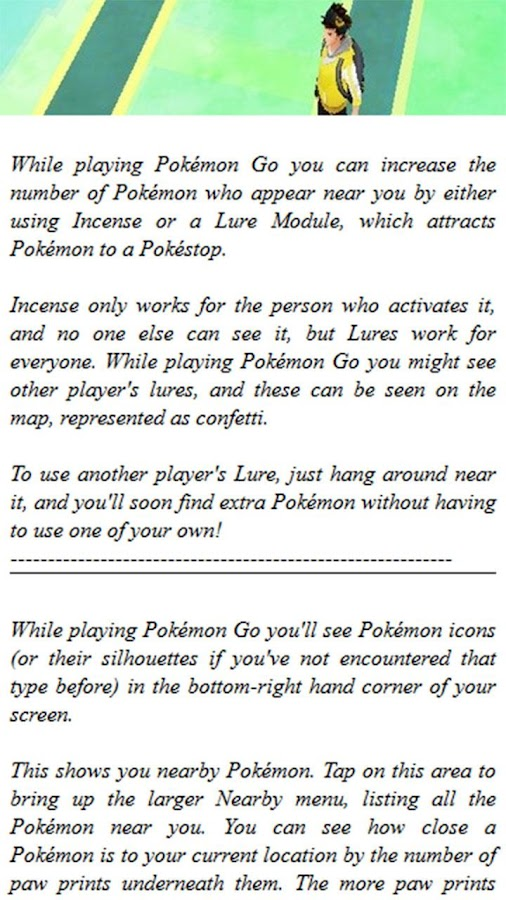 Tricks and Tips Pokemon Go- screenshot