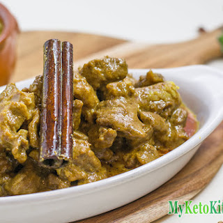 Low Carb Nut-Free Lamb Korma Curry.