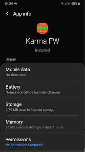 Karma Firewall Screenshot