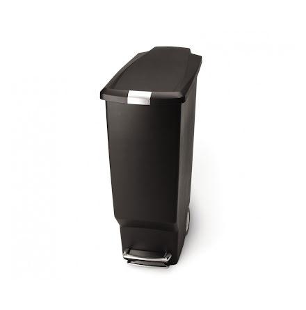 Smal pedaltunna Simplehuman, 40 liter, plast svart