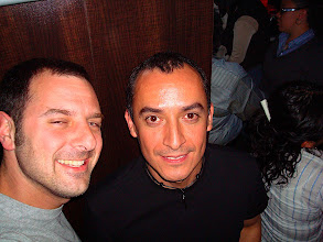 Photo: Stephen and Rocco at Bar Play in Condesa