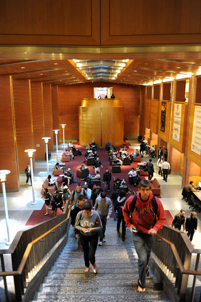 "Photo: By midday, the Baker Forum in Jon M. Huntsman Hall is abuzz with activity.   <a href=""http://www.flickr.com/photos/thewhartonschool/6938631096/"">Photo</a> by <a href=""http://flickr.com/photos/40963601@N05"">University of Pennsylvania</a>  Taken at 11:52 am"