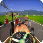 Real Tractor Driver Cargo 3D