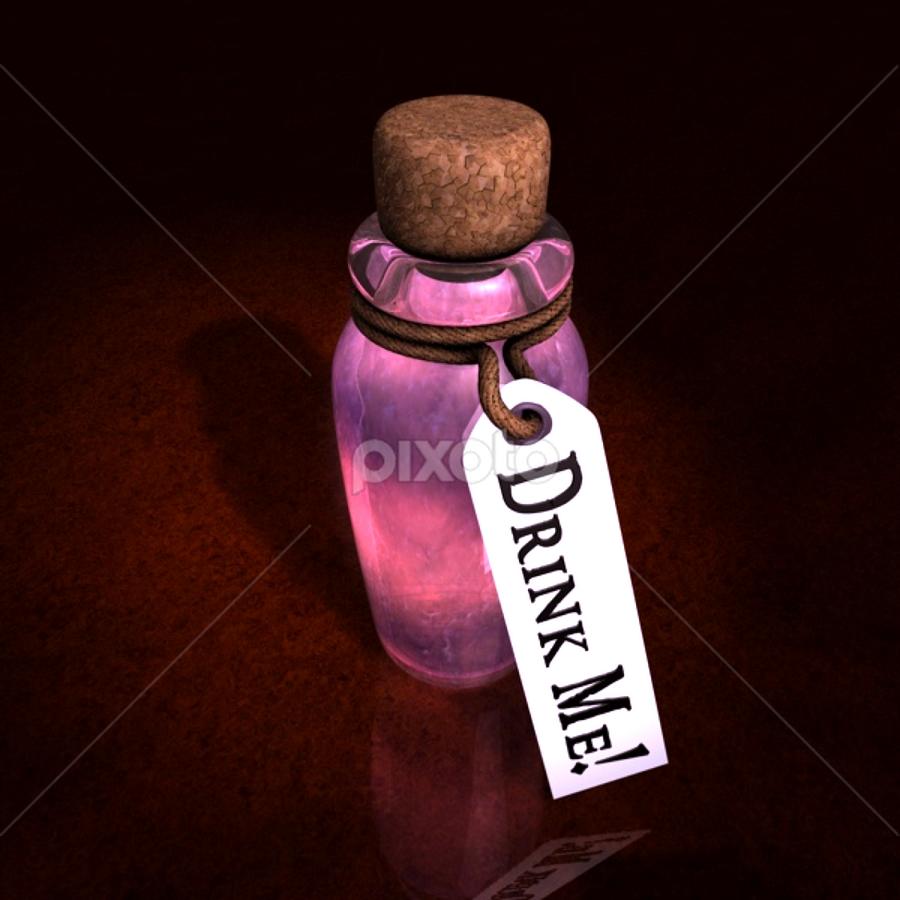 Drink Me! by Markham Mack - Illustration Sci Fi & Fantasy ( drink. alice. wonderland. fantasy. adventure., markham mack. )
