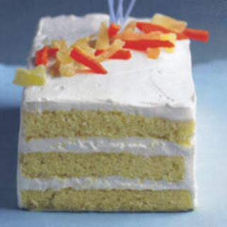 Citizen Cake Rum Butter Cake with Key Lime Cream and Tropical Fruits.