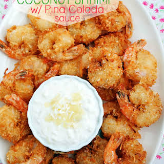 Red Lobster's Coconut Shrimp with Pina Colada Sauce.