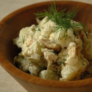Potato Salad with Smoked Trout and Dill.