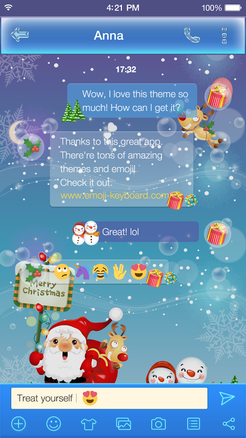 Merry Christmas Emoji Keyboard Android Apps On Google Play