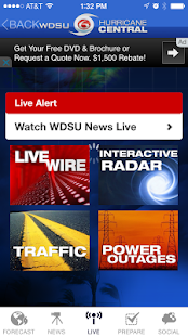 WDSU Hurricane Central - screenshot thumbnail