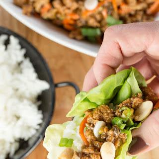 Ground Chicken Lettuce Wraps.