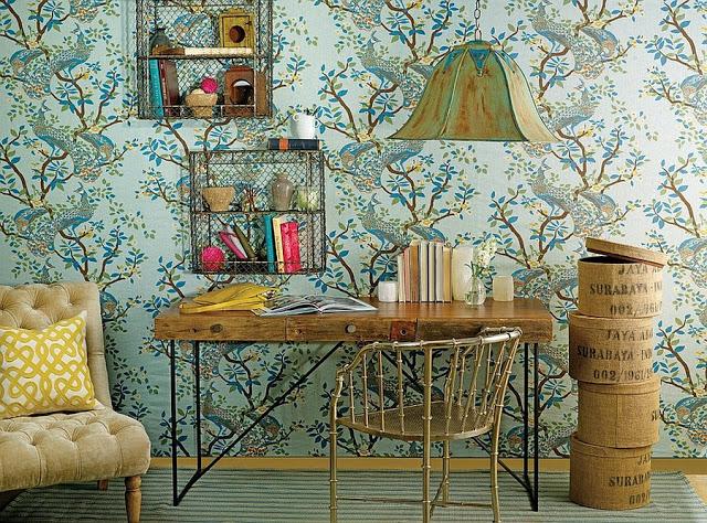 Thiết kế nội thất gia đình màu xanh