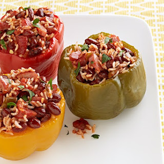 Slow-Cooker Jambalaya-Stuffed Peppers