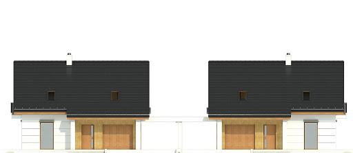 Nowinka VI z garażem i wiatą bliźniak A1-BL1 - Elewacja przednia