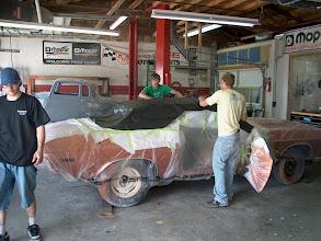 Photo: installing vinyl roof