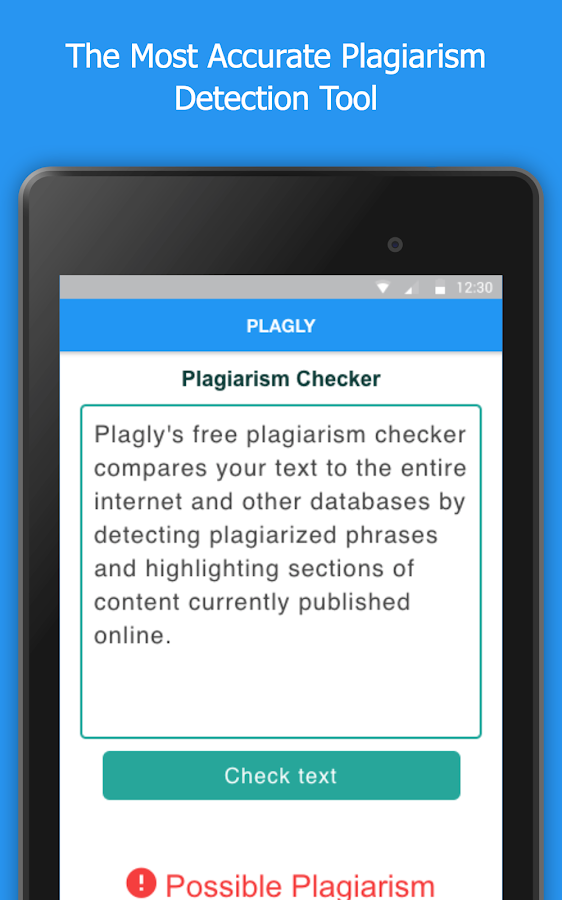 Plagly - Plagiarism Checker- screenshot