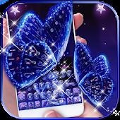 Tải Màu xanh bướm bàn phím long lanh chủ đề miễn phí