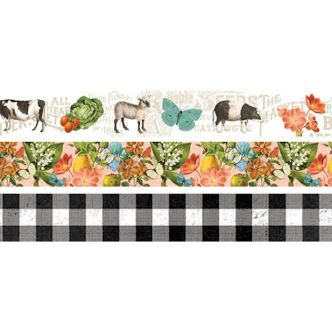 Simple Stories Washi Tape 3/Pkg - SV Farmhouse Garden