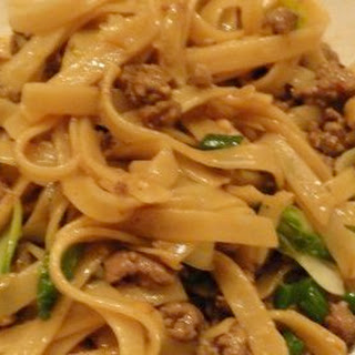 Chinese Style Noodles with Ground Lamb and Bok Choy.