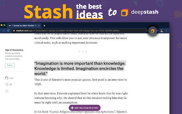 Deepstash - Stash Ideas