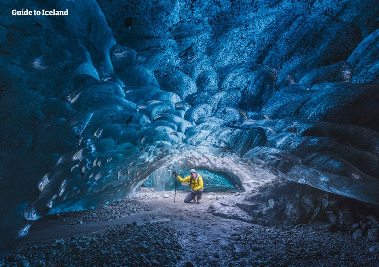 Ice Cave can be found in the winter time in Iceland