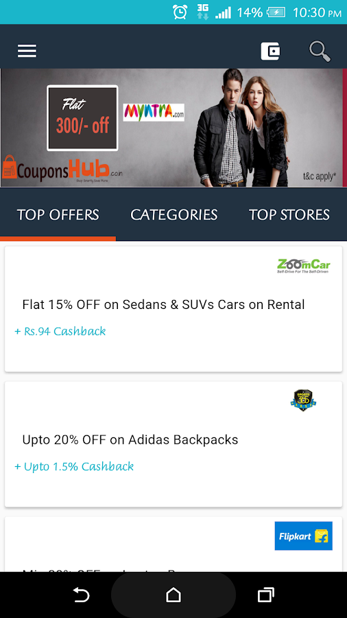 Couponshub Cashback & Coupons- screenshot