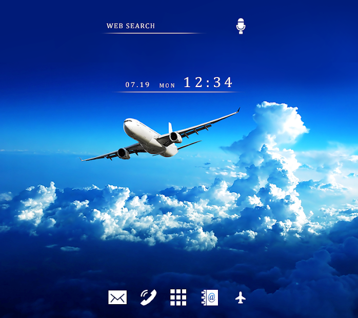 Stylish Wallpaper Jet Blue Sky Theme Android App Screenshot