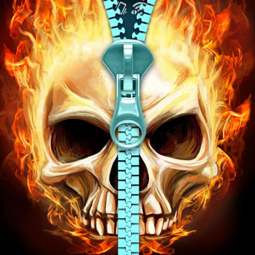 Skull lock screen. file APK for Gaming PC/PS3/PS4 Smart TV
