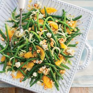 Green Bean, Orange, and Fennel Salad with Hazelnuts and Goat Cheese