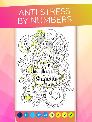 Antistress Coloring By Numbers For Adults 2.0 screenshots 1