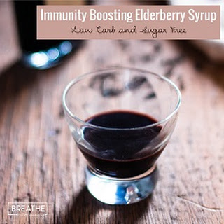 Low Carb Elderberry Syrup - Sugar Free