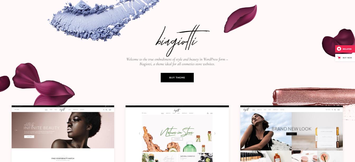 Biagiotti - Cosmetic Woocommerce theme