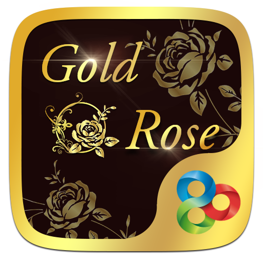 Gold Rose GO Launcher Theme 個人化 App LOGO-硬是要APP