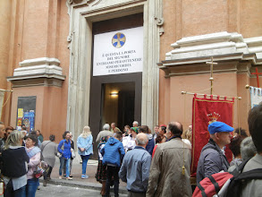 Photo: Beginning of the procession of the Madonna back up the hill to San Luca, Bologna, May 2016