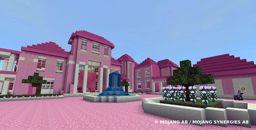 Pink house with furniture. Craft maps and mods 1.0.1 screenshots 11