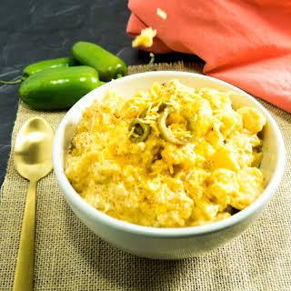 Spicy Crock Pot Cauliflower Mac & Cheese.