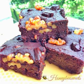 Vegan Tofu Brownies with Walnuts and Chocolate Chunks