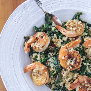 Kale With Shrimp & Quinoa