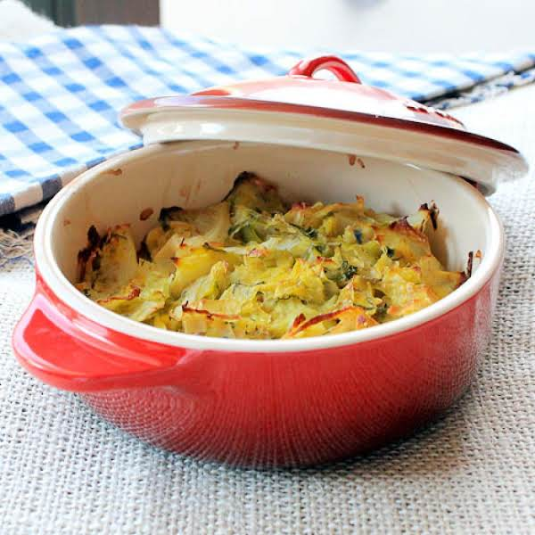 Cabbage And Leek Gratin