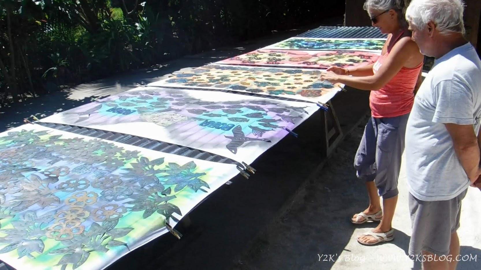 La nascita di un pareo - Bora Bora