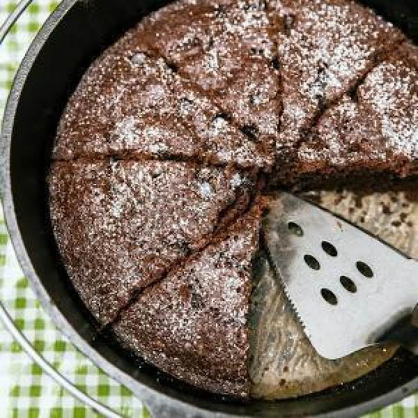 Dutch Oven Double Chocolate Cake Recipe