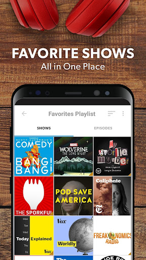 Stitcher - Podcasts & Radio - News, Comedy, & More 4.5.1 screenshots 2