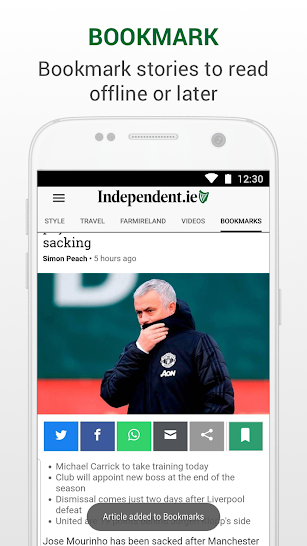 Irish Independent News screenshot for Android