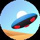 ホバーボードに乗り、砂漠や空中回廊などを左右動きながら滑り抜ける、エンドレス3Dランゲーム